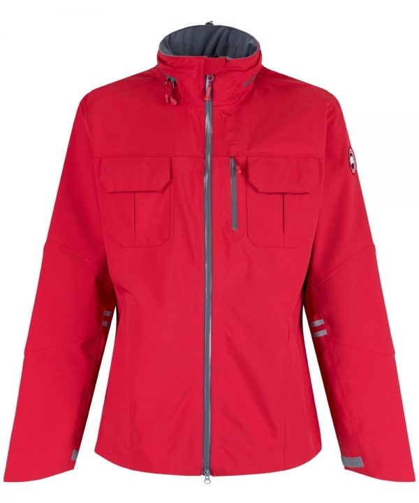 Men's Canada Goose Moraine Shell Jacket – Red / Mid Grey